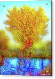 Crystal Pond Dream Acrylic Print