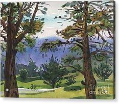 Crystal Springs Fairway Acrylic Print by Donald Maier