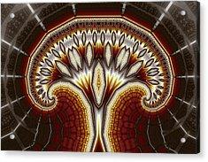 Crystal Tree No. 2 Acrylic Print by Mark Eggleston