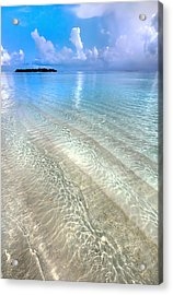 Crystal Water Of The Ocean Acrylic Print by Jenny Rainbow