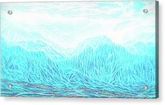 Crystalline Mountain Light Acrylic Print