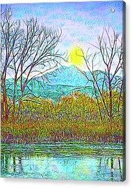 Crystalline Twilight Reflections - Boulder County Colorado Acrylic Print