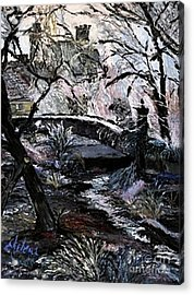Acrylic Print featuring the painting Crystals by Helena Bebirian