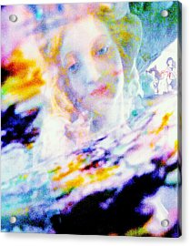 Crytsal Acrylic Print by HollyWood Creation By linda zanini