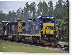 Csx 5955 Through Folkston Georgia Acrylic Print