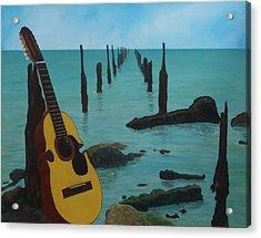 Cuatro Seascape Acrylic Print by Tony Rodriguez