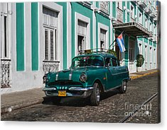 Acrylic Print featuring the photograph Cuba Cars II by Juergen Klust