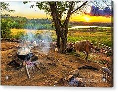 Cuba Dinner Time Acrylic Print