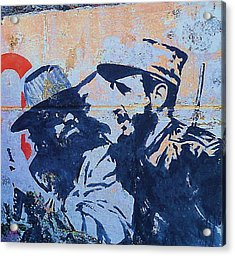 Cuba Fidel Che Acrylic Print by Yury Bashkin