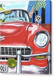 Cuba Taxi - 01 Acrylic Print by Dean Glorso