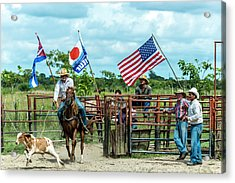 Acrylic Print featuring the photograph Cuban Cowboys by Lou Novick