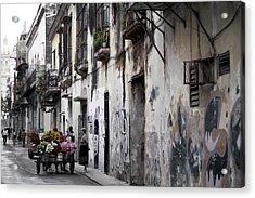 Cuban Flower Vendor Acrylic Print