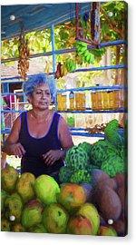 Cuban Fruit Stand II Acrylic Print