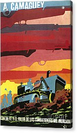 Cuban Poster, 1960s Acrylic Print by Granger