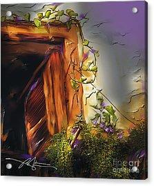 Cuban Shuttered Window Acrylic Print by Bob Salo