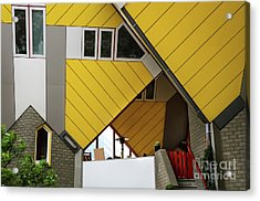Acrylic Print featuring the photograph Cube Houses Detail In Rotterdam by RicardMN Photography