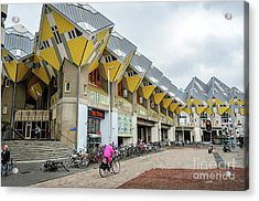 Acrylic Print featuring the photograph Cube Houses In Rotterdam by RicardMN Photography