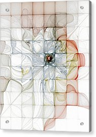 Cubed Pastels Acrylic Print