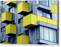 Cubed Yellow Acrylic Print by Jez C Self