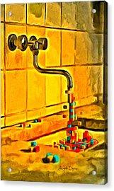 Cubic Water - Da Acrylic Print by Leonardo Digenio