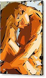 Cubism Series Ix Acrylic Print by Rafael Salazar