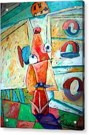 Cubist Cookie Acrylic Print by Charlie Spear