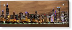 Cubs Skyline Acrylic Print by Jeff Lewis
