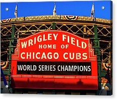 Cubs Win World Series Acrylic Print by Andrew Soundarajan