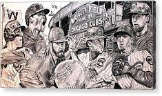 Cubs World Series Acrylic Print by Brian Sanford