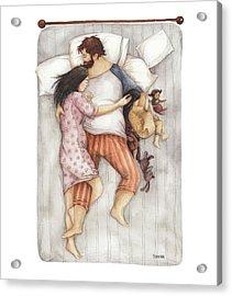Cuddles Acrylic Print