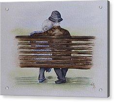 Cuddling Is Ageless Acrylic Print