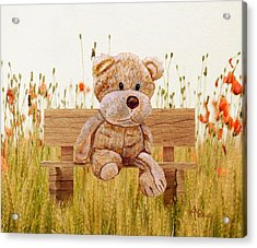 Cuddly In The Garden Acrylic Print
