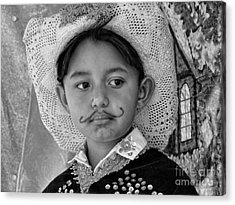 Acrylic Print featuring the photograph Cuenca Kids 883 by Al Bourassa
