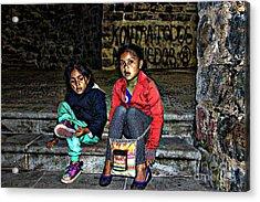 Cuenca Kids 953 Acrylic Print by Al Bourassa