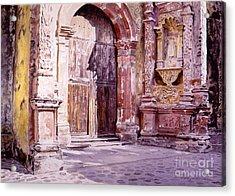 Cuernavaca Cathedral Acrylic Print by David Lloyd Glover
