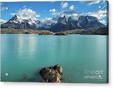 Cuernos Massif, Patagonia Acrylic Print