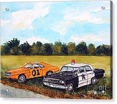 Cuff Em N Stuff Em Acrylic Print by Tim Ross