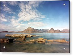 Acrylic Print featuring the photograph Cuillin Mountain Range by Grant Glendinning