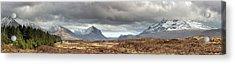 Cuillin Panorama Acrylic Print by Grant Glendinning