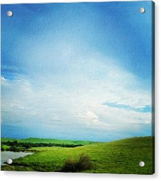 Cultivating Green And Blue Landscape Acrylic Print