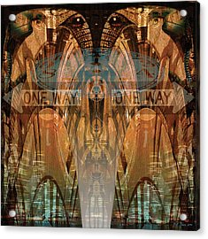 Cultural Divide Acrylic Print by Bill Jonas