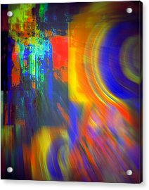 Cultural Exchange And Movement Acrylic Print by Fania Simon