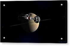 Acrylic Print featuring the digital art Cumberland At Saturn by David Robinson