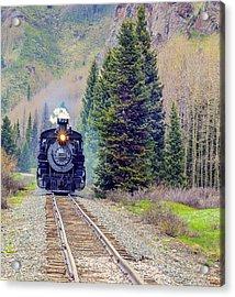 Cumbres Toltec  Train Acrylic Print by Larry Bodinson