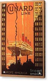 Cunard Ocean Liner Poster Acrylic Print