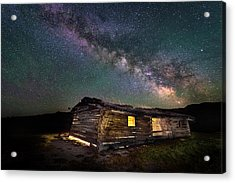 Cunningham Cabin After Dark Acrylic Print