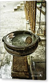 Cup In Water Reservoir Acrylic Print