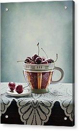 Cup Of Cherries Acrylic Print by Maggie Terlecki