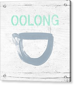 Cup Of Oolong Tea- Art By Linda Woods Acrylic Print