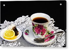 Cup Of Tea Please Acrylic Print by Trudy Wilkerson